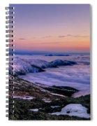 An Undercast Sunset Panorama Spiral Notebook