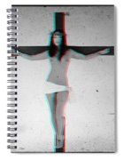 Anaglyph Asian Female Jesus Spiral Notebook