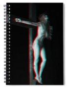 Anaglyph Dark Crucifix Spiral Notebook
