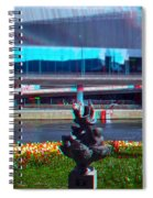 Anaglyph Modern Sculpture Spiral Notebook