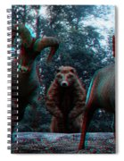 Anaglyph Wild Animals Spiral Notebook