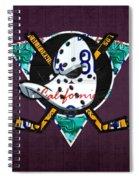 Anaheim Ducks Hockey Team Retro Logo Vintage Recycled California License Plate Art Spiral Notebook