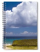 Anakena Beach With Ahu Nau Nau Moai Statues On Easter Island Spiral Notebook