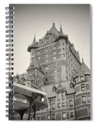 Analog Photography - Chateau Frontenac Quebec Spiral Notebook
