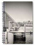 Analog Photography - Martha's Vineyard Black Dog Wharf Spiral Notebook