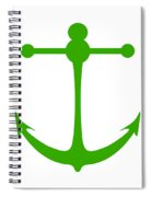 Anchor In Green And White Spiral Notebook