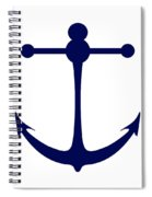 Anchor In Navy And White Spiral Notebook