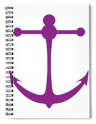 Anchor In Purple And White Spiral Notebook