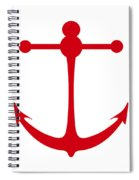 Anchor In Red And White Spiral Notebook