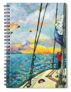 Anchored At Sunset Spiral Notebook