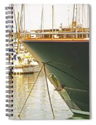 Anchored Yacht In Antibes Harbor Spiral Notebook