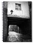 Ancient Alley In Tui Bw Spiral Notebook