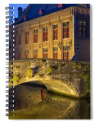 Ancient Bridge In Bruges  Spiral Notebook
