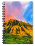 Ancient Hawaii Lava Flow Spiral Notebook