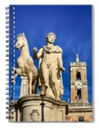 Ancient Marble Sculpture Of Castor At The Cordonata Stairs  Spiral Notebook