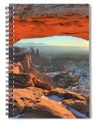 Ancient Orange Spiral Notebook