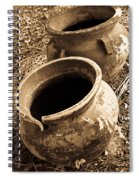 Ancient Pottery In Sepia Spiral Notebook