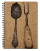 Ancient Spoon And Fork  Spiral Notebook