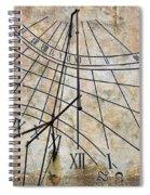 Ancient Sundial Spiral Notebook