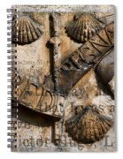 Ancient Wall With Hugo Spiral Notebook