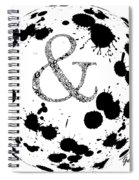 And Sign Splashes Sphere  Spiral Notebook