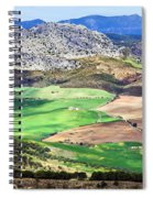 Andalucia Landscape In Spain Spiral Notebook