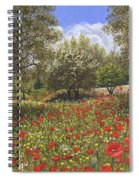 Andalucian Poppies Spiral Notebook