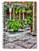 Andalusian Courtyard In Sevilla Spain Spiral Notebook