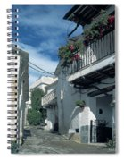 Andalusian White Village Spiral Notebook