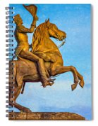 Andrew Jackson - Paint Spiral Notebook