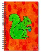 Andy's Squirrel Green Spiral Notebook
