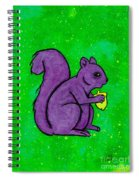 Andy's Squirrel Purple Spiral Notebook