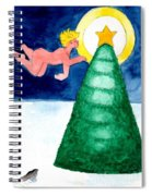 Angel And Christmas Tree Spiral Notebook