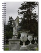 Angel And Garden Urns Spiral Notebook