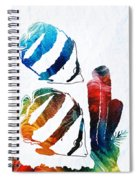 Angel Fish Art - Little Angels 2 - By Sharon Cummings  Spiral Notebook