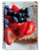 Angel Food And The Berries Spiral Notebook