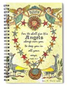 Angel Fraktur Painting Spiral Notebook