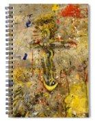 Angel In Journey Spiral Notebook