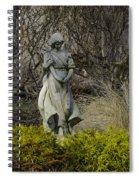 Angel In The Garden Spiral Notebook