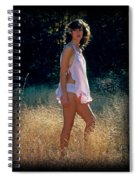 Angel In The Grasses 3 Spiral Notebook