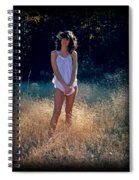 Angel In The Grasses Spiral Notebook