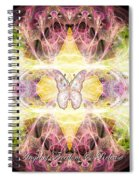 Angel Of Freedom And Release Spiral Notebook