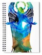 Angel Of Light - Spiritual Art Painting Spiral Notebook