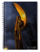 Angel Of The Morning Textured Spiral Notebook