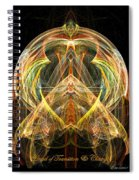 Angel Of Transformation And Change Spiral Notebook