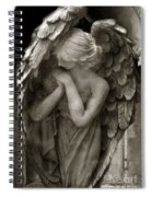 Angel Photography Spiritual Angel  - Guardian Angel In Prayer - Angel Praying  Spiral Notebook