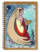 Angel Playing For Us No1 Spiral Notebook
