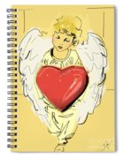 Angel Red Heart Spiral Notebook