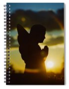 Angel Silhouette Spiral Notebook