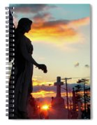 Angel Silhouette In Burst Of Colors Spiral Notebook